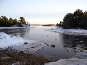 The tidal inlet on the cold morning of December 9th
