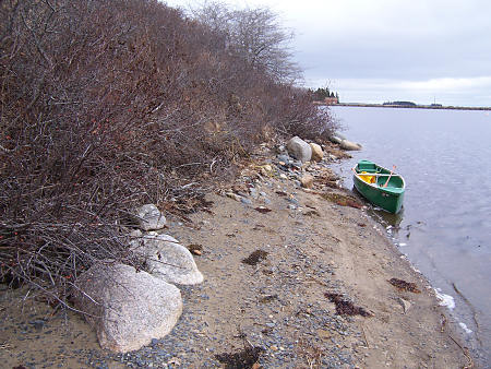 Ashore on a small island near home