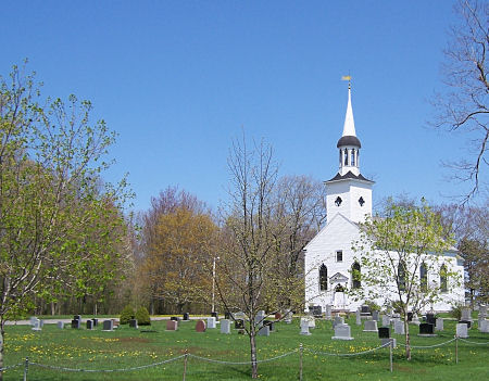 The Anglican church on Church St., near Port Williams in the Annapolis Valley of Nova Scotia, taken May 13, 2009.