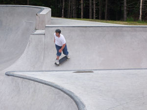 The brand new Chester Skate Park. Photo by M. Sepulchre