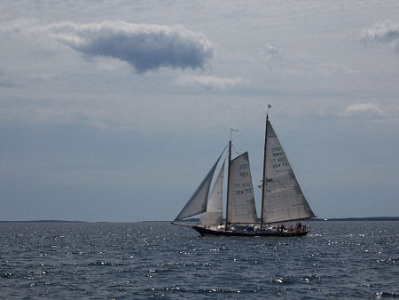 Ocean Racing Class schooner, apparently from Germany, spotted in Mahone Bay on August 9, 2009.