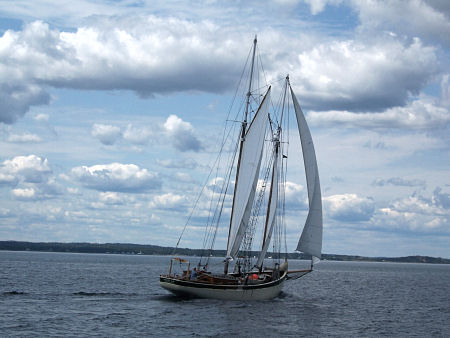 Schooner in Lunenburg Bay.