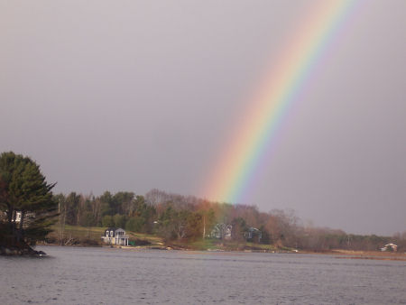 Rainbow's end, near Oak Island, Nova Scotia