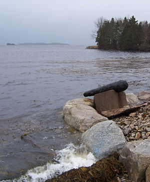 Cannon near Oak Island