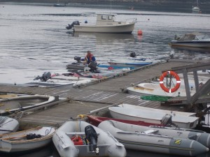 Dinghies at dock