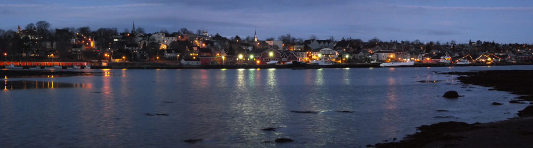 Lunenburg at nightfall