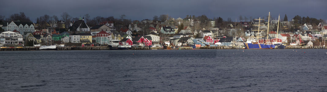Panorama of Lunenburg taken with the FinePix S1800