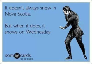 The joke is that most of our winter storms this year have happened on Wednesdays!