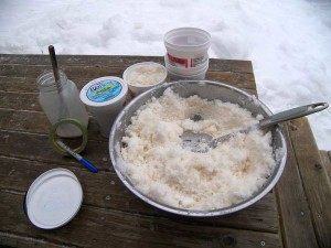 bowl full of snow cream